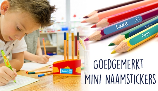 Goedgemerkt mini naamstickers