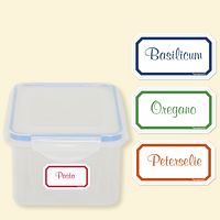 Organizing Labels - gekleurde rand