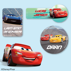 Cars3 Naamstickers