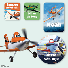 Planes Naamstickers