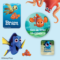 Finding Dory Naamstickers